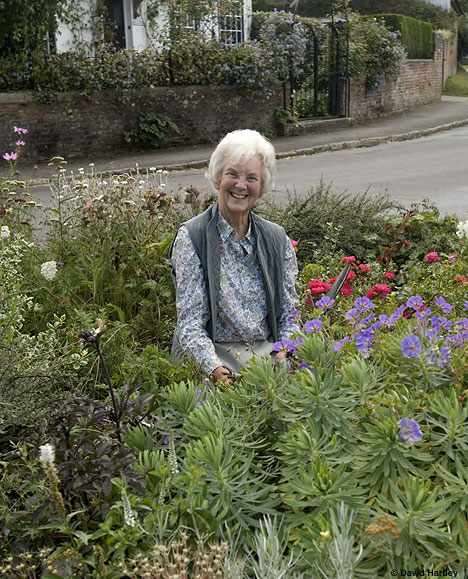 June Turnbull pensioner needs signs to garden
